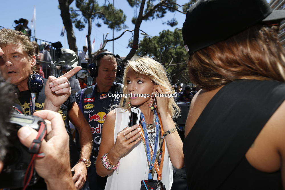 59707368  .Actor David Hasselhoff and his girlfriend Hayley Roberts attends Formula One Grand Prix of Monaco on May 26, 2013, in Monte Carlo, Monaco..UK ONLY