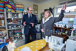 © Licensed to London News Pictures . 19/11/2014 . Kent , UK . UKIP candidate MARK RECKLESS at a craft shop at Hoo Marina Park in Rochester , to canvas votes . The Rochester and Strood by-election campaign following the defection of sitting MP Mark Reckless from Conservative to UKIP . Photo credit : Joel Goodman/LNP