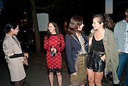 "HANNAH BHUIYA; YI ZHOU; LARA BOHINC; CHARLOTTE DELLAL, , Video artist Yi Zhou  first solo show ""I am your Simulacrum"".Exhibition opening at 20 Hoxton Square Projects. Hoxton Sq. London. 1 September 2010.  -DO NOT ARCHIVE-© Copyright Photograph by Dafydd Jones. 248 Clapham Rd. London SW9 0PZ. Tel 0207 820 0771. www.dafjones.com."