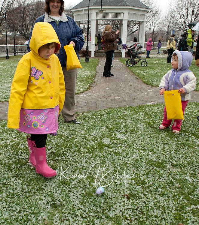 Downtown Laconia's Easter Eggstravaganza event Saturday April 23, 2011.