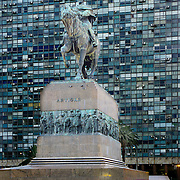 South America, Uruguay, Montevideo, Satatue of Jose Arteagas / Artigas, father of Uruguayan independence in Plaza Indepencia.