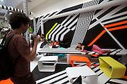 """Tobias Rehberger, """"Was du liebst, bringt dich auch zum Weinen"""" (Cafeteria), 2009, receiver of the golden lion for """"best artist..Giardini, Palazzo delle Esposizioni. International exhibition """"Fare Mondi // Making Worlds // Bantin Duniyan // ???? // Weltenmachen // Construire des Mondes // Fazer Mundos..."""" curated by Daniel Birnbaum."""