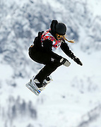 SOCHI, RUSSIA - FEBRUARY 09:  Rebecca Torr of New Zealand competes during the Snowboard Women's Slopestyle Semi finals during day 2 of the Sochi 2014 Winter Olympics at Rosa Khutor Extreme Park on February 9, 2014 in Sochi, Russia. Photo: Ian MacNicol/www.photosport.co.nz
