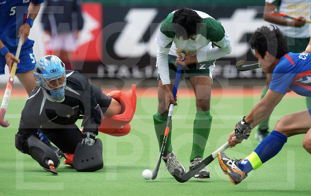 AUCKLAND - Champions Trophy men.Pakistan v Korea.foto: Haseem Khan scores..FFU Press Agency  COPYRIGHT FRANK UIJLENBROEK..