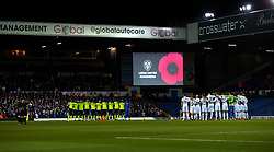 Leeds United and Derby County observe a minutes silence for Remembrance Day - Mandatory by-line: Robbie Stephenson/JMP - 31/10/2017 - FOOTBALL - Elland Road - Leeds, England - Leeds United v Derby County - Sky Bet Championship