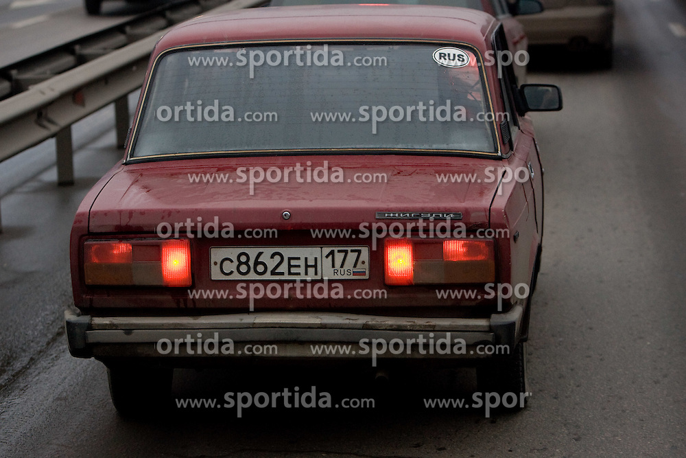 Car Lada in Moscow, on November 13, 2009, Moscow, Russia.  (Photo by Vid Ponikvar / Sportida)