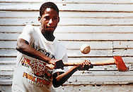 A young Detroiter wanted to play ball but didn't have a bat so he tried taking a swing with an  axe instead.