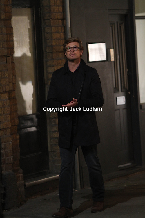 Simon Baker, Rose Byrne, shooting I give it a Year,   in Soho London High Quality Prints please enquire via contact Page. Rights Managed Downloads available for Press and Media