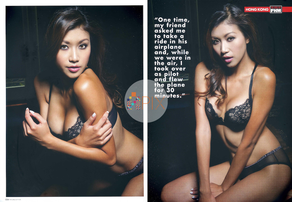 Stunning Samantha Hon fills an 8-page feature in 'The Girls of FHM' in Singapore.  <br />