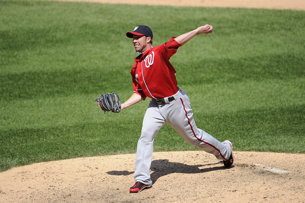 CHICAGO, IL - JUNE 26:  Sean Burnett #17 of the Washington Nationals pitches against the Chicago White Sox on June 26, 2011 at U.S. Cellular Field in Chicago, Illinois.  The Nationals defeated the White Sox 2-1.  (Photo by Ron Vesely/MLB Photos via Getty Images)  *** Local Caption *** Sean Burnett