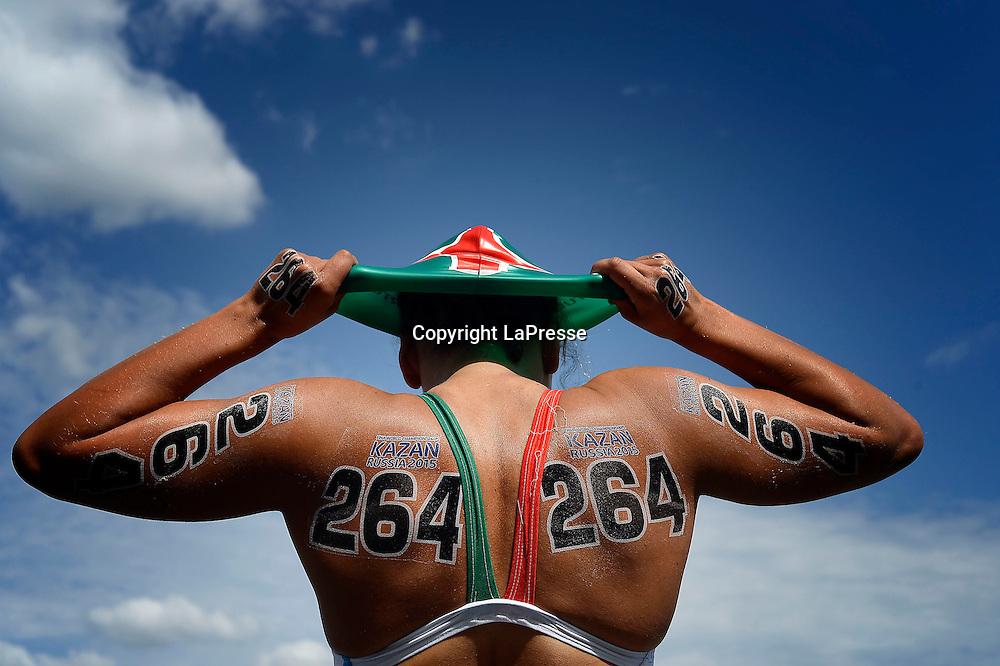 Foto Fabio Ferrari - LaPresse<br /> 28/07/2015 Kazan ( Russia ) <br /> Sport <br /> 16 Campionati del mondo FINA 2015 - Open Water - 10km Donne.<br /> nella foto: Mood. Arena<br /> <br /> Photo Fabio Ferrari - LaPresse<br /> 28 July 2015 Kazan ( Russian ) <br /> Sport<br /> 16th FINA World Championship 2015 - Open Water - 10km Women.<br /> in the picture:mood