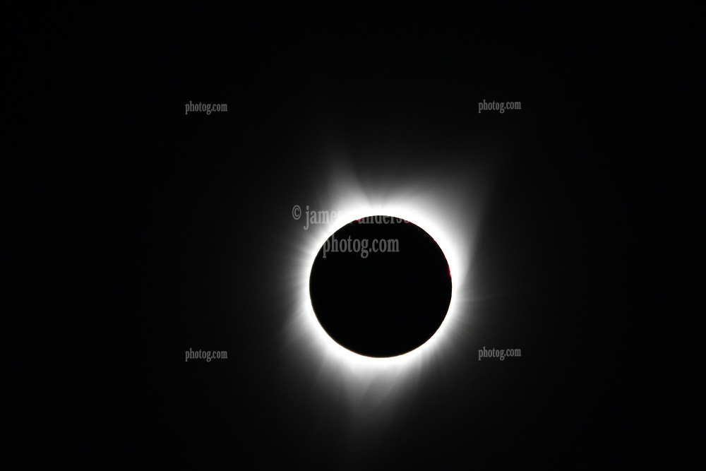 The Corona at Totality. Solar Eclipse 2017. Farewell Bend State Recreation Area Oregon on the Snake River on the 21st August. Camera: Nikon D500 with 80~400 Nikkor Zoom and 1.4X Teleconverter TC-14E III.