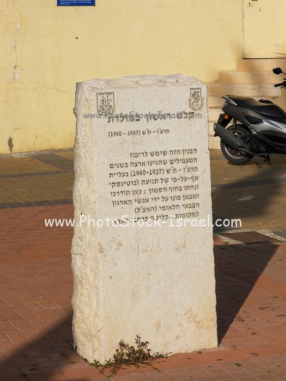 Stone sculptures in the pedestrian street, Netanya, Israel
