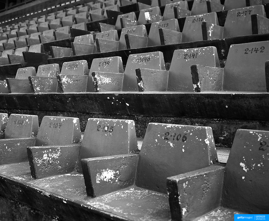 Playing with Ghosts... Football Stadiums of Argentina..Argentina, one of the powerhouses of World Football is steeped in history and tradition, so too are the countries stadiums. Many were built in the early part of the 1900's and maintain an incredible unique atmosphere of their own. Empty stadiums terraces sing to the observer, holding onto the fans voices from match days past when Argentina's fans show a passion for the game and their clubs which is second to none. The historic stadiums have a voice of their own and a unique atmosphere. ..The 'executive' old concrete seating at the Estadio Brigadier General Estanislao Lopez, the home of Club Atlético Colón, commonly known as Colón de Santa Fe or just Colón is a football team from Santa Fe, Argentina. The stadium was opened in 9 July 1946 and has a capacity of 33,548.