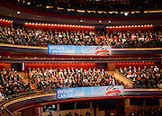© Licensed to London News Pictures. 08/10/2012. Birmingham, UK The auditorium at the Conservative Party Conference at the ICC today 8th October 2012. Photo credit : Stephen Simpson/LNP
