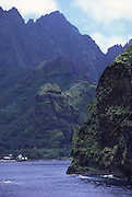 Shoreline, Bay of Virgins, Fatu Hiva, Marquesas, French Polynesia<br />