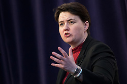 © Licensed to London News Pictures. 19/04/2017. London, UK. Ruth Davidson MSP, Leader of the Scottish Conservative Party in the Scottish Parliament speaks at The Royal United Services Institute (RUSI) panel discussion on aid, security and broader British national interests. Photo credit : Tom Nicholson/LNP