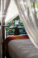 Interior of a casita at Latitude 10 Resort, Santa Teresa, Costa Rica