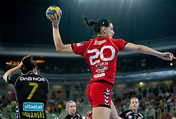 Alja Koren of Krim during handball match between RK Krim Mercator and Larvik HK (NOR) of Women's EHF Champions League 2011/2012, on November 13, 2011 in Arena Stozice, Ljubljana, Slovenia. Larvik defeated Krim 22-19 but both teams qualified to new round. (Photo By Vid Ponikvar / Sportida.com)