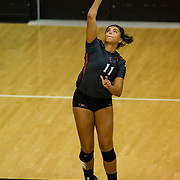 25 August 2017: The San Diego State women's volleyball team hosts Eastern Kentucky to open up the season and the Aztec Invitational. www.sdsuaztecphotos.com