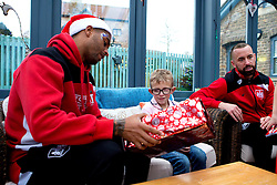 Mark Little and Aaron Wilbraham of Bristol City hand out presents during Bristol City's visit to the Children's Hospice South West at Charlton Farm - Mandatory by-line: Robbie Stephenson/JMP - 21/12/2016 - FOOTBALL - Children's Hospice South West - Bristol , England - Bristol City Children's Hospice Visit