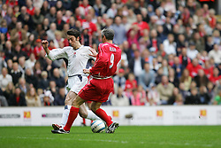 LIVERPOOL, ENGLAND - SUNDAY MARCH 27th 2005: Liverpool Legends' Ian Rush and Celebrity XI's Ralf Little during the Tsunami Soccer Aid match at Anfield. (Pic by David Rawcliffe/Propaganda)