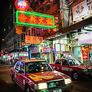 Street scene in Jordan, Hong Kong at night