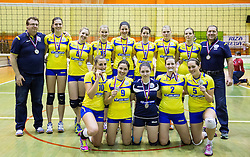 Players of Luka Koper after the volleyball match between Nova KBM Branik Maribor and OK Luka Koper in Final of Women Slovenian Cup 2014/15, on January 18, 2015 in Sempeter v Savinjski dolini, Slovenia. Photo by Vid Ponikvar / Sportida