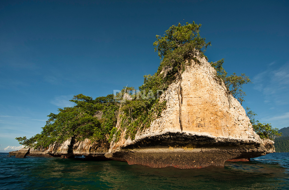 Karst cliff of a bird nesting island, Triton Bay, Papua