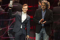 November 13, 2017 - Cheste, Spain - MotoGP Award Night Johann Zarco receive the roockie of the year (Credit Image: © Gaetano Piazzolla/Pacific Press via ZUMA Wire)