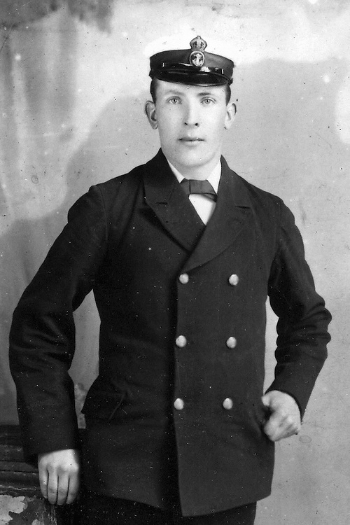A Royal Navy officer who became one of the first men to die in World War I has been commemorated in a book by the grandson he never met.<br /> <br /> James White found a diary written by his grandfather while clearing out his mother's flat following her death fifteen years ago.<br /> <br /> And he was so intrigued by the discovery that he decided to tour the length of the Mediterranean Sea to follow his grandfather's steps to the places he visited a hundred years before.<br /> <br /> James McKay, of Craigellachie in Speyside, died two months after the war began when the cruiser HMS Pathfinder he was working on was torpedoed by a German submarine.<br /> <br /> It was the first time in history that a warship had been torpedoed by a submarine and he was one of 232 men who died in the explosion off the coast of Scotland on September 5, 2014.<br /> <br /> (Photo: Newsline Media)