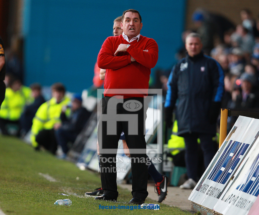 Picture by Paul Terry/Focus Images Ltd +44 7545 642257.26/01/2013.Martin Allen, manager of Gillingham during the npower League 2 match at the MEMS Priestfield Stadium, Gillingham.