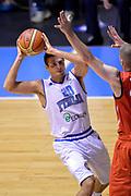 DESCRIZIONE : Cagliari Qualificazione Eurobasket 2015 Qualifying Round Eurobasket 2015 Italia Svizzera Italy Switzerland<br /> GIOCATORE : Andrea Cinciarini<br /> CATEGORIA : Penetrazione Passaggio<br /> EVENTO : Cagliari Qualificazione Eurobasket 2015 Qualifying Round Eurobasket 2015 Italia Svizzera Italy Switzerland<br /> GARA : Italia Svizzera Italy Switzerland<br /> DATA : 17/08/2014<br /> SPORT : Pallacanestro<br /> AUTORE : Agenzia Ciamillo-Castoria/Max.Ceretti<br /> Galleria: Fip Nazionali 2014<br /> Fotonotizia: Cagliari Qualificazione Eurobasket 2015 Qualifying Round Eurobasket 2015 Italia Svizzera Italy Switzerland<br /> Predefinita :