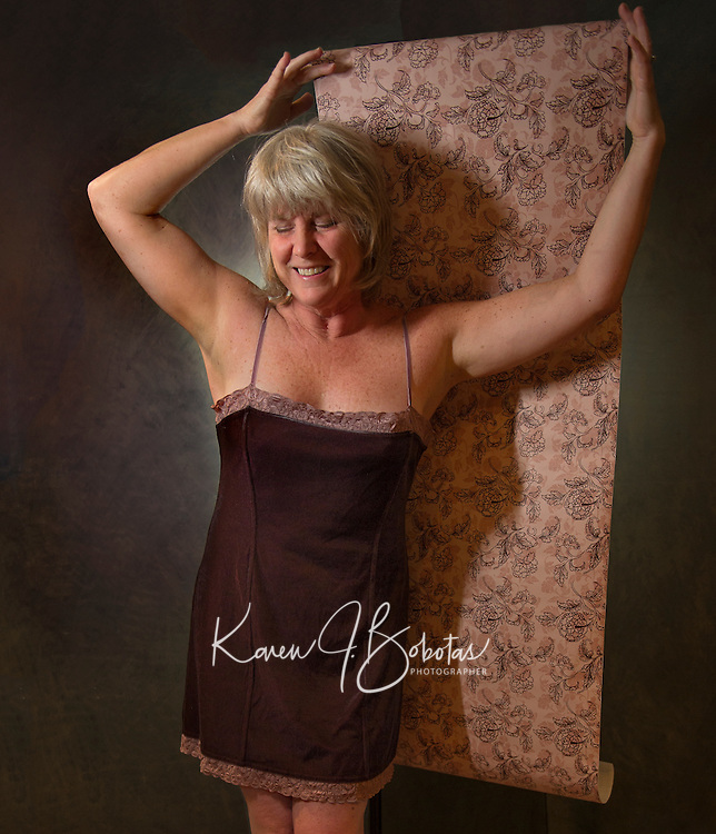 One Word ~ Me.  I Am Not Wallpaper.  I like vintage - consignment shopping.  I am a softie - a hopeless romantic.  I have a quirky sense of humor - sarcasm.  I'm Happy - Where I am - Right Now.  ©2016 Karen Bobotas Photographer