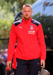 """Crystal Palaces Connor Wickham arrives at Madejski Stadium during the pre-season friendly match at the Madejski Stadium, Reading. PRESS ASSOCIATION Photo. Picture date: Saturday July 28, 2018. See PA story SOCCER Reading. Photo credit should read: Mark Kerton/PA Wire. RESTRICTIONS: EDITORIAL USE ONLY No use with unauthorised audio, video, data, fixture lists, club/league logos or """"live"""" services. Online in-match use limited to 75 images, no video emulation. No use in betting, games or single club/league/player publications."""