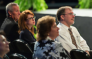 Daniel Gohl listens as Houston ISD superintendent Dr. Terry Grier comments during the opening day of the Summer Leadership Institute at Reliant Center, June 17, 2014.