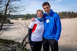 18-03-2018 NED: We hike to change diabetes, Soest<br /> Training voor de Camino 2018 op de Soesterduinen / Bas en Mirjam