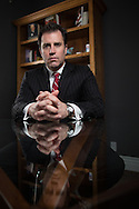 Lawyer Phillip Millar of Millars Law in London Ontario, poses for a portrait in his office Wednesday,  April 10, 2013. Millar is representing several women in a class action lawsuit who were allegedly assaulted by a Canadian Forces medical technician..THE CANADIAN PRESS/ Geoff Robins