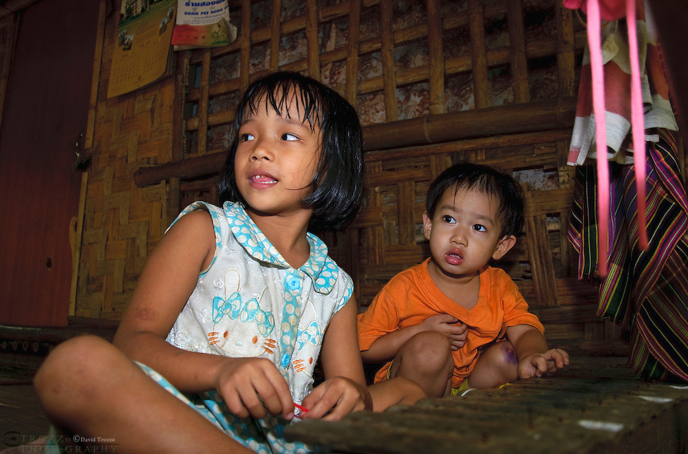 Mon tribe children, Kanchanaburi Province, Thailand