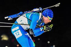February 18, 2018 - Pyeongchang, Gangwon, South Korea - Lukas Hofer of Italy competing in  15 km mass start biathlon at Alpensia Biathlon Centre, Pyeongchang,  South Korea on February 18, 2018. (Credit Image: © Ulrik Pedersen/NurPhoto via ZUMA Press)
