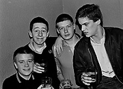 Four skinshead / Mods at a gig, 1981