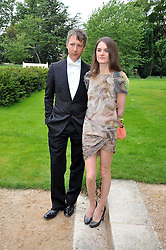 Jefferson Hack and Anouck Lepere at the Raisa Gorbachev Foundation fourth annual fundraising gala dinner held at Stud House, Hampton Court, Surrey on 6th June 2009.