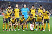 Football - 2016 / 2017 Champions League - Group A: Arsenal vs Basel<br /> <br /> Arsenal team group Back row l-r. <br /> Alexis Sanchez,Hector Bellerin, Shkodran Mustafi,David Ospina, Laurent Koscielny, Alex Iwobi,Mesut Ozil.<br /> Ground - Granit Xhaka, Theo Walcott, Santi Cazorla,Nacho Monreal<br />  at the Emirates Stadium<br /> <br /> Credit : Colorsport / Andrew Cowie