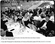 Sophie Macdonald-Woods at the Rose Ball, Grosvenor House. London. 21 May 1987. Film 87364f6<br /> © Copyright Photograph by Dafydd Jones. 66 Stockwell Park Rd. London SW9 0DA. Tel 0171 733 0108