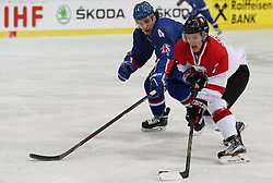 20.04.2016, Dom Sportova, Zagreb, CRO, IIHF WM, England vs Litauen, Division I, Gruppe B, im Bild CETVERTAK Ilja, LEE Stephen. // during the 2016 IIHF Ice Hockey World Championship, Division I, Group B, match between Great Britain and Lithuania at the Dom Sportova in Zagreb, Croatia on 2016/04/20. EXPA Pictures © 2016, PhotoCredit: EXPA/ Pixsell/ Dalibor Urukalovic<br /> <br /> *****ATTENTION - for AUT, SLO, SUI, SWE, ITA, FRA only*****