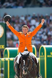 Jeroen Dubbeldam, (NED), Casall Ask - Show Jumping Final Four - Alltech FEI World Equestrian Games™ 2014 - Normandy, France.<br /> © Hippo Foto Team - Jon Stroud<br /> 07/09/2014