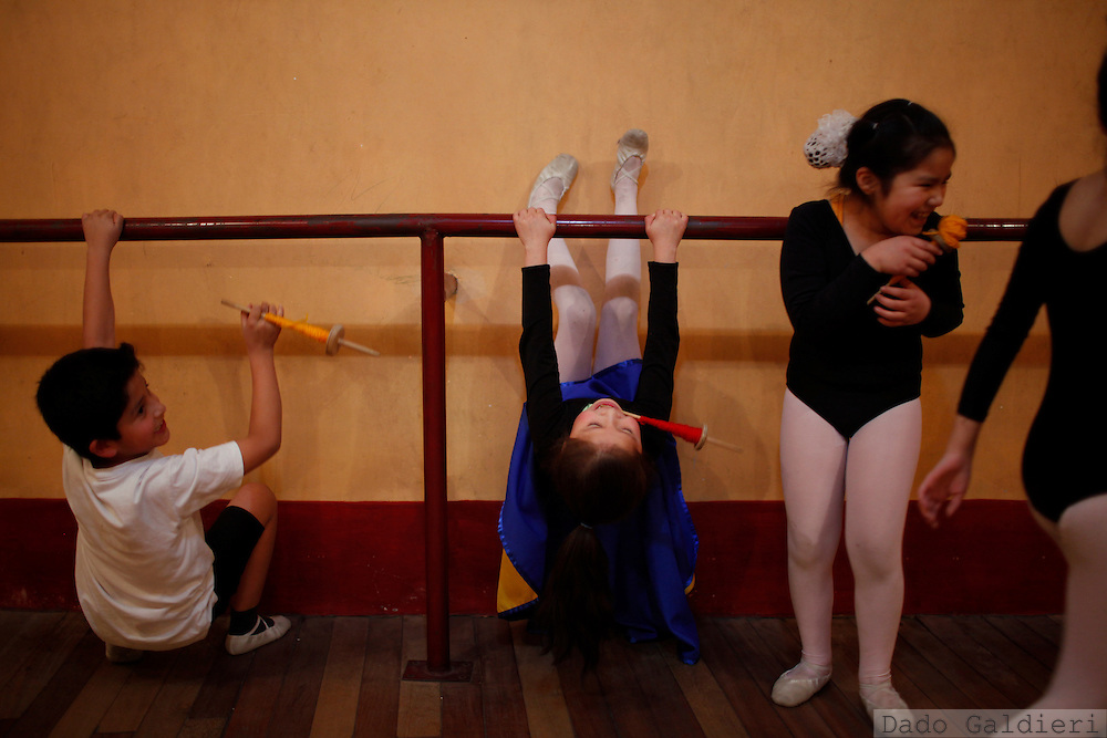 at the National School of Ballet in La Paz, Bolivia, Wednesday, July 14, 2010. (Photo Dado Galdieri)