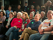 05 DECEMBER 2019 - DES MOINES, IOWA: People laugh at a joke made by Senator Amy Klobuchar during a campaign event in Des Moines. Sen. Klobuchar is campaigning to be the Democratic nominee for the US Presidency. Iowa holds the first selection event of the Presidential election cycle. The Iowa caucuses are Feb. 3, 2020.                  PHOTO BY JACK KURTZ