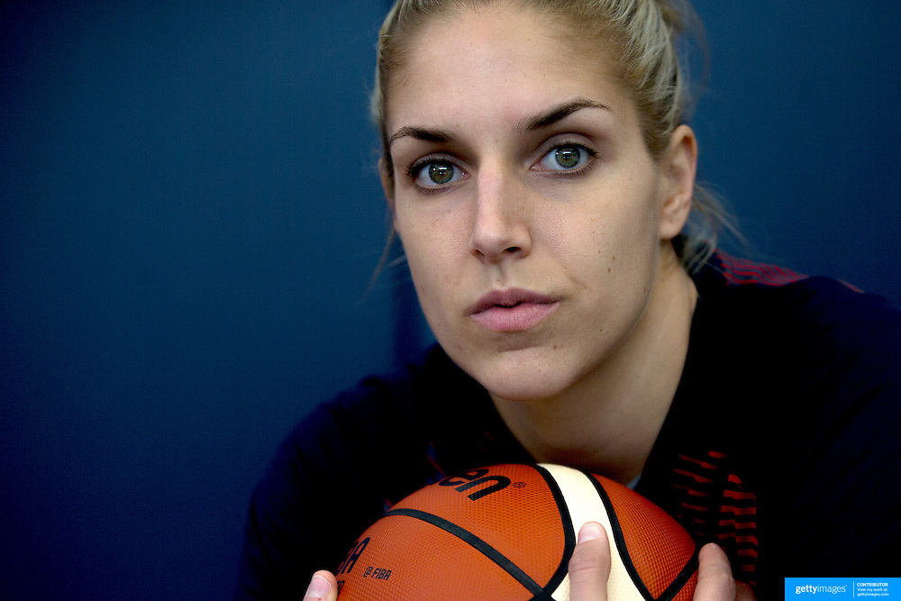 Player Portraits: Elena Delle Donne  <br /> <br /> The 2016 USA Basketball Women's National Team Training Camp at the  University of Connecticut&rsquo;s Werth Family UConn Basketball Champions Center, Storrs, Connecticut. 21st February 2016. Photo Tim Clayton