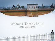 The Mount Tabor Park Calendar is an 8-year personal project of photographer Andrew Haliburton celebrating Portland's beloved park and former reservoirs. The park covers 190 acres, offering many recreational amenities including paved and unpaved trails, play areas, basketball court, tennis courts and picnic areas. For over 100 years, the reservoirs functioned at the heart of Portland's drinking water supply, balancing the flow of drinking water from Bull Run. The Portland Water Bureau disconnected the reservoirs and removed them from the City's water distribution network in 2016.